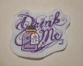 Drink Me Patch (Choose your own color background)