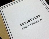 Seriously? That's f-ed up: Cards for Dudes