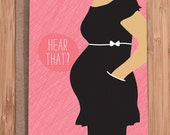 funny baby shower card / silence