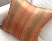 Silk Fall Colors stripe elegant designer pillow sham