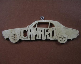 Camaro Vintage Car Decoration Ornament Scroll Saw Wood Cut Out