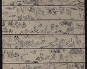 Furoshiki Navy 'Playful Animals' Cotton Japanese Fabric w/Free Insured Shipping
