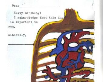 Birthday: I acknowledge
