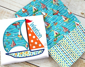 Sail Away With Me Short Sleeve Tee Shirt by babe-a-gogo for Toddlers, Boys