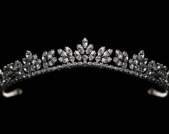 Bride / Wedding Silver Tiara made with Swarovski Crystal Clear Rhinestones