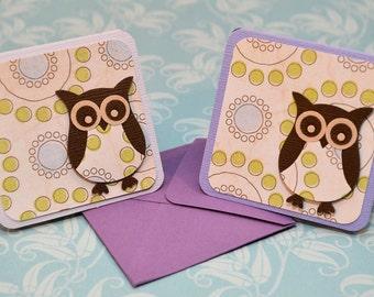 Owl Mini Cards - Set of 6