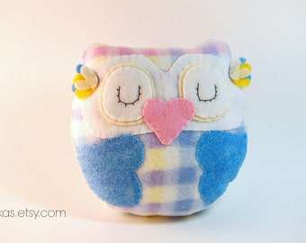 Nursery Owl / Stuffed Toy Plush Eco Friendly