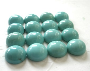 Gemstone Cabochons Turquoise Round 6mm FOR TWO