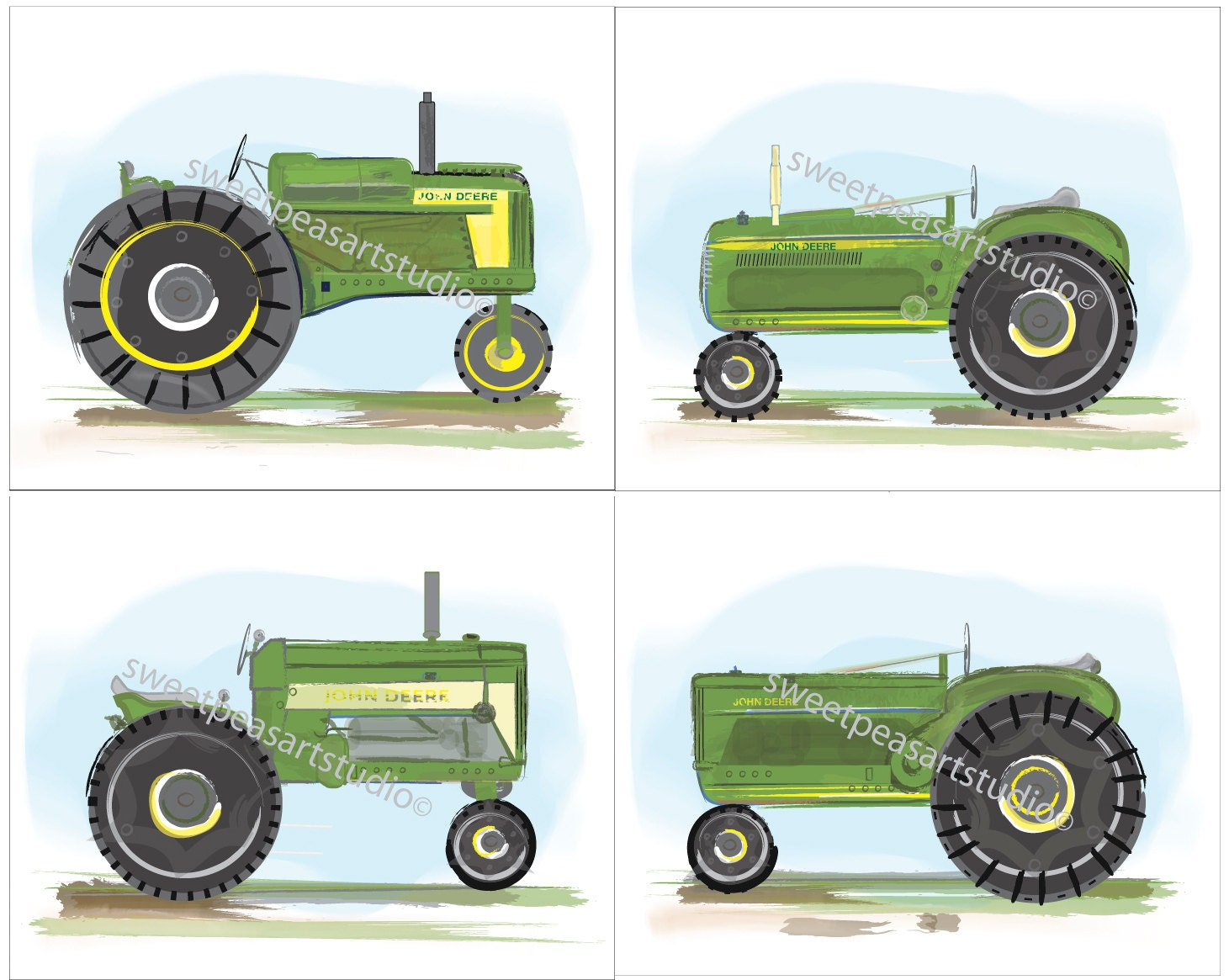 John Deere Tractor Cartoon Prints : Moved permanently