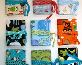 SALE, SALE, SALE Small Artist Sketch Cases for 8 to 16 Crayons and Pad of Paper - Pick Your Favorite
