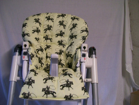 prima pappa diner high chair cover in light yellow with black