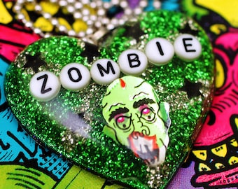 Zombie Lover - Resin Necklace