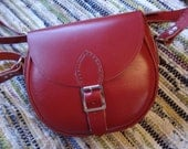 Hand Stitched Red Leather Molly Bag