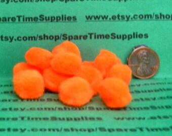 """Fibre Craft - 1573-12 Pom Pom - orange - 1/2"""" (12mm) - 48 pcs"""
