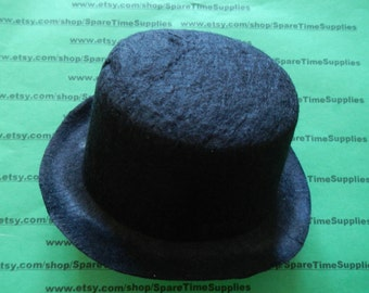 "Darice - 12791 -  felt top hat - black - 3 3/4"" - 1 pc"
