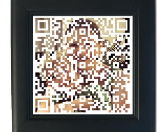 Qr Code Art Print Etsy