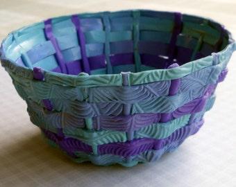 Woven Polymer bowl OOAK