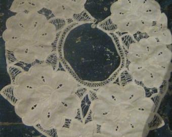 Vintage Battenburg Lace Decorative Collar FREE SHIPPING