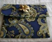 Envelope style corded pocket
