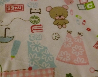 All About Baby Girl Baby Blanket