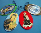 Ornaments Choice of International Madonna Imagery - Black Madonna, Galway Virgin, Perpetual Help, Guadaloupe