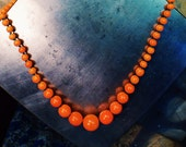 vintage german glass beaded necklace