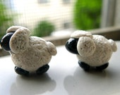 Polymer Clay Sheep Earring Studs