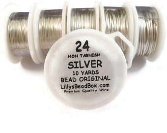 Silver Plated Wire - 24 Gauge Wire for Making Jewlery, Non Tarnish Wire, Wire Wrapping Supplies