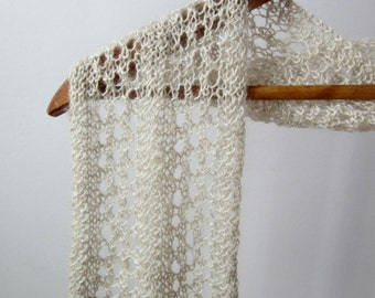 PDF - Ladders & Lace - One Skein Pygora Scarf Pattern Knit Instructions