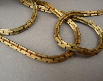 4 ft Boston Link Chain Solid Brass Vintage
