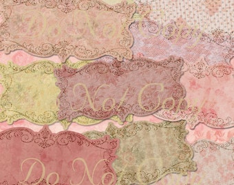 Buy 1 Get 1 FREE High Tea Shabby Rose Chic Frames Vintage Tags Instant DOWNLOAD