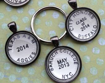 Graduation Keychain - Personalized Keychain - Gift for Grads - Custom School Keychain for Graduation - Custom Key Chain Graduation Gift
