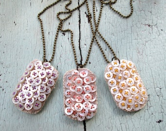 Pastel Dog Tag Necklace