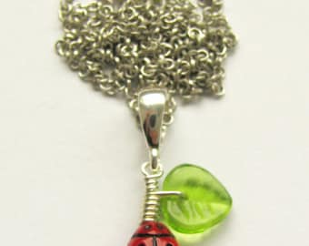 Necklace Ladybugs XXV