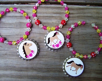 Posey  Horse Pony Birthday Party Favor Bracelet 6pk