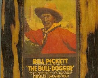 Bill Pickett - Wooden Plaque