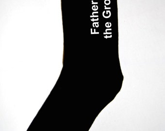 Father of the Bride or Father of the Groom black dress socks wedding gift