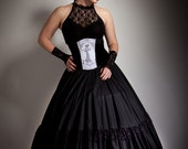 Cotton  Lace Full Circle Ballgown Skirt Gothic wedding any size