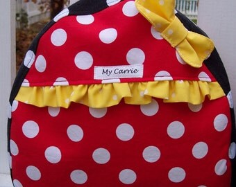 My Carrie Baby/Toddler Backpack Inspired by Minnie Mouse in Red or Pink