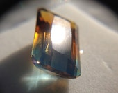 Large Blue/Orange Natural Ametrine Gemstone, Emerald Cut, 12.33ct
