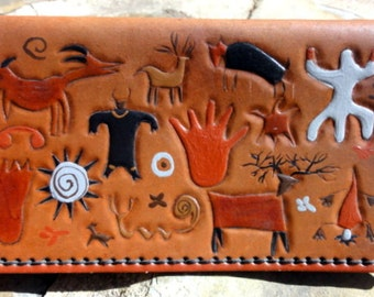 Checkbook Cover with Petroglyphs