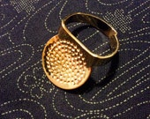 Clover Japanese Metal sashiko thimble for sewing, quilting, needlepoint, and embroidery