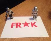 Frak Letterpress postcard / print