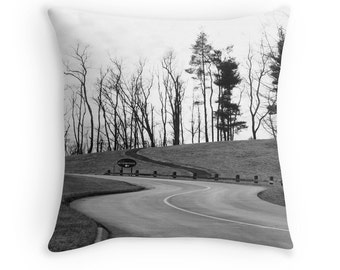 "Winter Tree Pillow Cover, Photo Pillow Cover, Home Decor, 16"" 18"" 20"" Square Throw Pillow, Landscape, Black and White Throw Pillow Cover"