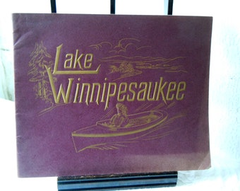 Lake Winnipesaukee Nh Photograph Souvenir Booklet From