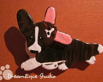 Cardigan Welsh Corgi in a CorgiPals Hat Pendant. Dog Jewelry for Charity! I5