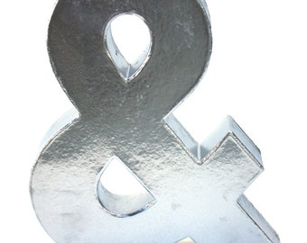 Decorative Faux Metal Ampersand Symbol