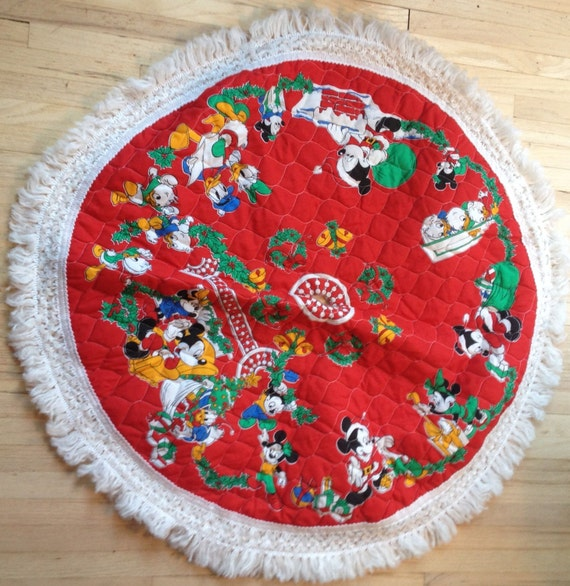 Etsy Christmas Tree Skirt: Vintage Mickey Mouse Christmas Tree Skirt By Lishyloo On Etsy