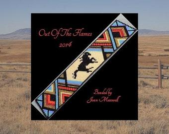 Bead PATTERN  Vanishing Herds- Mustang Cuff Bracelet Peyote or Brick Stitch