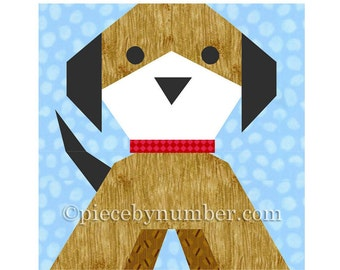 Puppy Dog quilt block, paper piecing quilt patterns, PDF quilt patterns, dog quilt patterns, puppy quilt pattern, animal quilt patterns